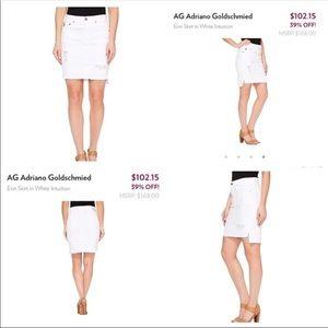 Ag Adriano Goldschmied Skirts - Ag white Erin Pencil skirt